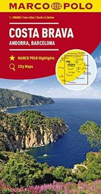 מפה MA ספרד 200 קטלוניה קוסטה בראבה וברצלונה
