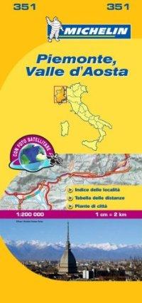 מפת איטליה 200 פיימונטה וואלה ד'אאוסטה 351 מישלן