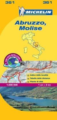 מפת איטליה 200 אברוצו ומוליזה 361 מישלן
