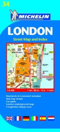 מפה MI לונדון (אינדקס רחובות) 34