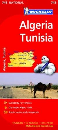 מפת אלג'יריה-טוניסיה 743 מישלן