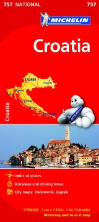 מפה MI קרואטיה 757