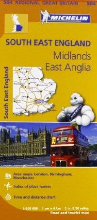 מפה MI בריטניה 504 דרום מזרח, מידלנדז, מזרח אנגליה