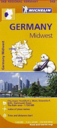 מפה MI גרמניה 543 מרכז מערב
