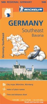 מפה MI גרמניה 546 דרום מזרח -בוואריה