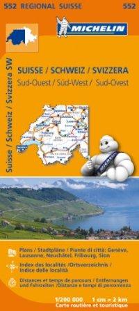 מפה MI שווייץ 200 דרום מערב 552