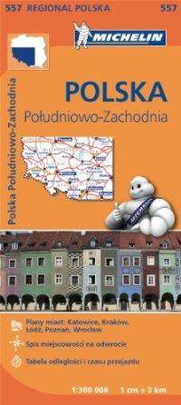 מפה MI פולין דרום מערב 557