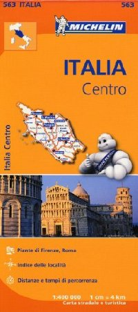 מפה MI איטליה 563 מרכז - טוסקנה, אומבריה, לאציו
