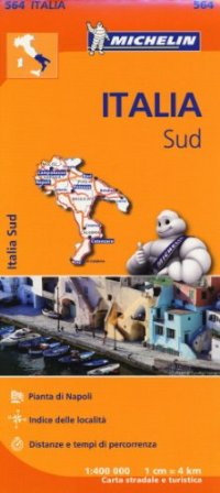 מפת איטליה 564 דרום - פוליה, מוליזה, קמפאניה, קלאבריה, בזיליקטה