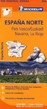 מפה MI ספרד 573 צפון מרכז פאיס וסקו נווארה לה ריוחה