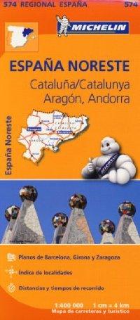 מפה MI ספרד 574 צפון מזרח ארגון קטלוניה