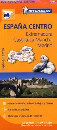 מפה MI ספרד 576 מרכז - אקסטרמדורה קסטיליה לה מנשה מדריד