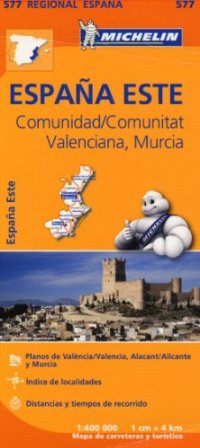 Spain Central East Comunidad Valenciana Murcia (1/400 000)