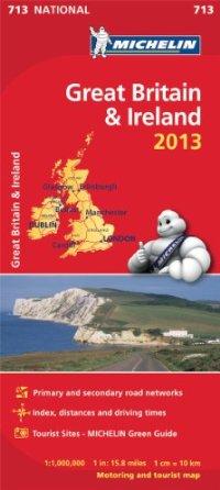 מפת בריטניה ואירלנד 713 2013 מישלן (ישן)