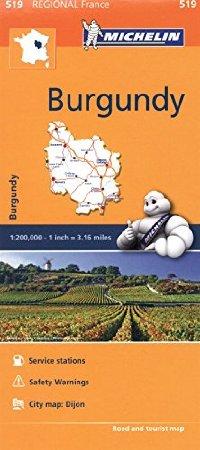 מפה MI צרפת 519 בורגון