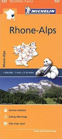 מפה MI צרפת 523 רון-אלפ (האלפים הצרפתיים)