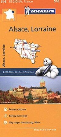 מפה MI צרפת 516 אלזאס ולורן