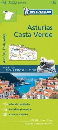 מפה MI ספרד זום 142 אסטוריאס, קוסטה וורדה