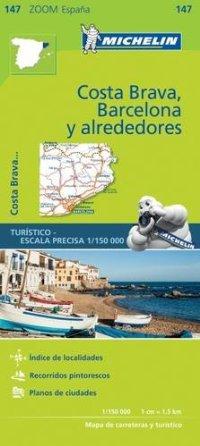 מפה MI ספרד 147 אזור ברצלונה וקוסטה בראבה