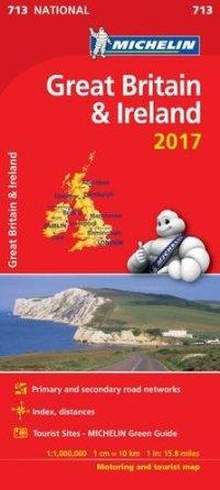 מפה MI בריטניה ואירלנד 713 2017