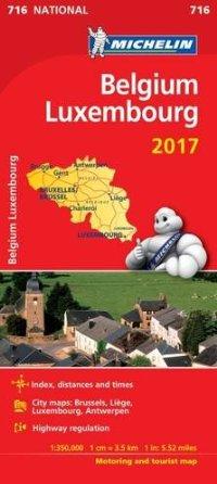 מפה MI בלגיה ולוקסמבורג 716 2017