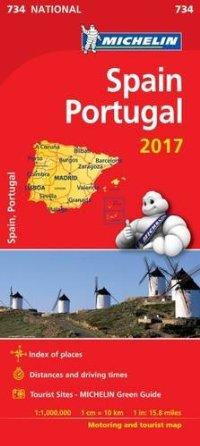מפה MI ספרד ופורטוגל 734 2017