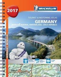 מפה MI גרמניה אוסטריה שווייץ 1462 אטלס ספירלי 2017 A4