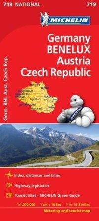 מפה MI גרמניה בנלוקס אוסטריה צ'כיה 719 2017