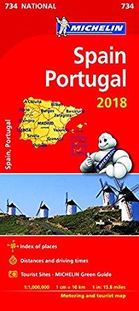 מפה MI ספרד ופורטוגל 734 2018