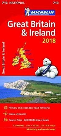 מפה MI בריטניה ואירלנד 713 2018