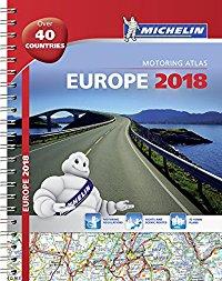 מפה MI אירופה 1136 אטלס 2018 ספירלי A4