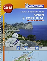 מפה MI ספרד ופורטוגל 1460 2018 אטלס ספירלי A4
