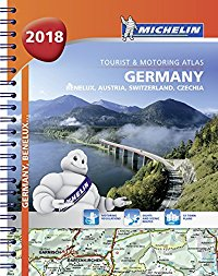מפה MI גרמניה אוסטריה שווייץ 1462 אטלס ספירלי 2018 A4