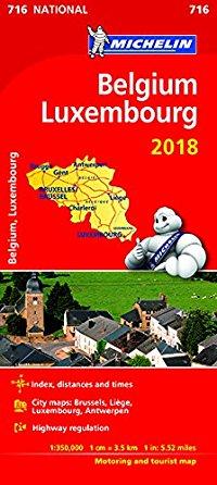 מפה MI בלגיה ולוקסמבורג 716 2018