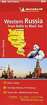 מפה MI רוסיה מערב 805