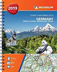 מפה MI גרמניה אוסטריה שווייץ 1462 אטלס ספירלי 2019 A4