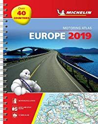מפה MI אירופה 1136 אטלס 2019 ספירלי A4