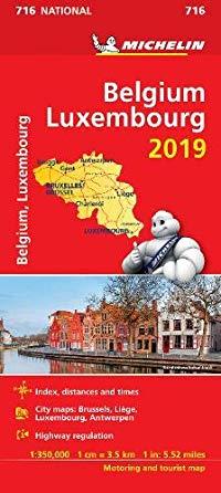 מפה MI בלגיה ולוקסמבורג 716 2019