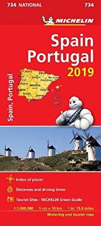 מפה MI ספרד ופורטוגל 734 2019