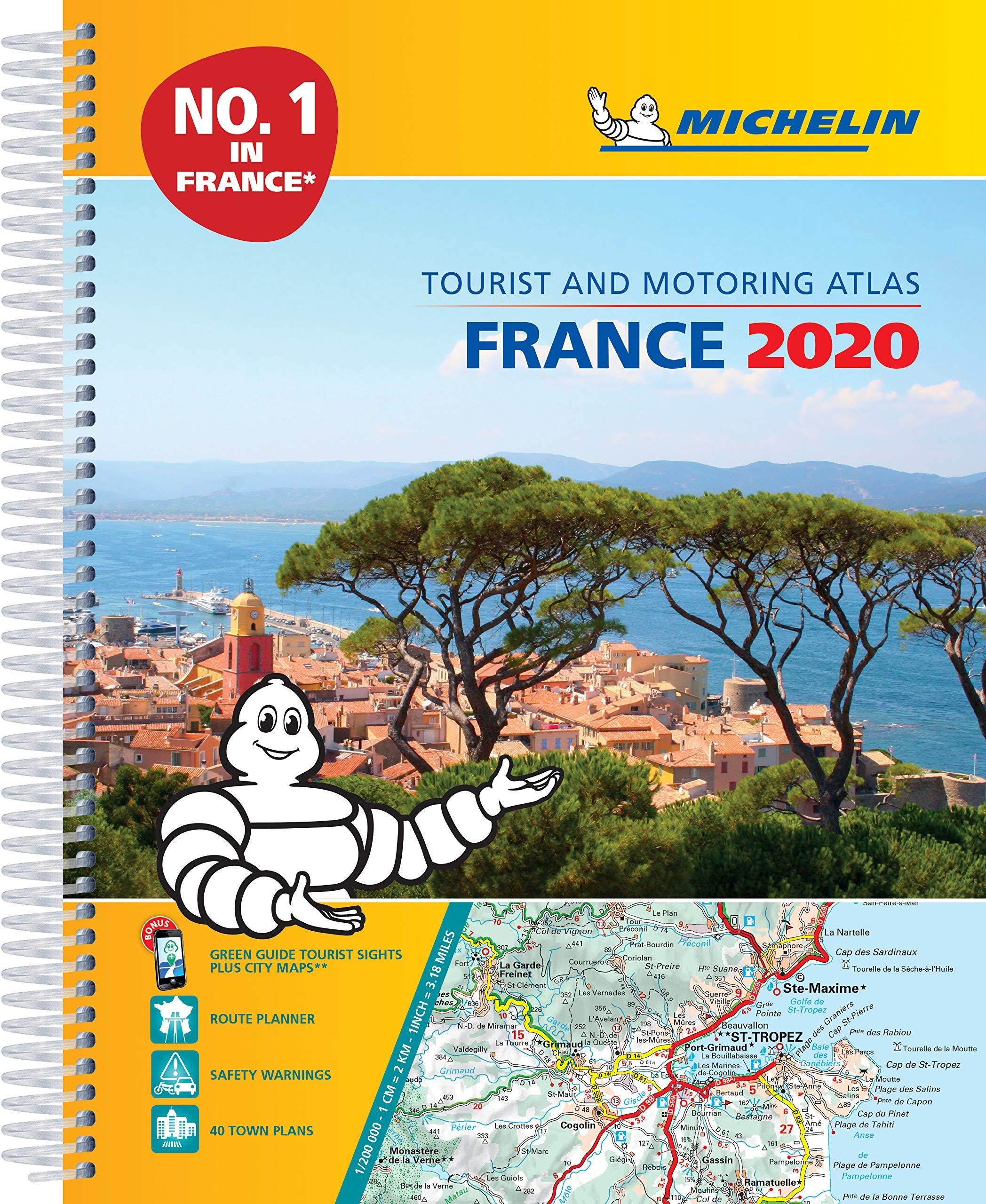 מפה MI צרפת 197 אטלס 2020 ספירלי A4