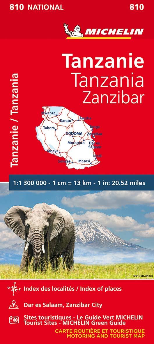 מפה MI טנזניה וזנזיבר 810