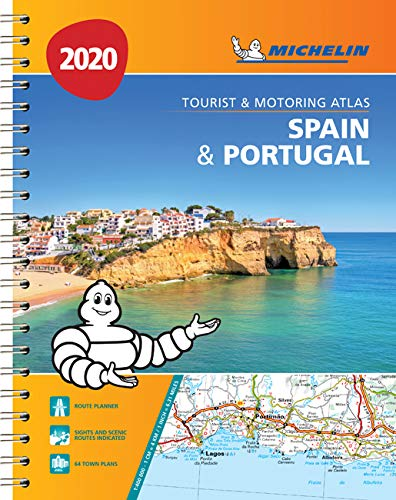 אטלס ספרד ופורטוגל 1460 2020 אטלס ספירלי A4
