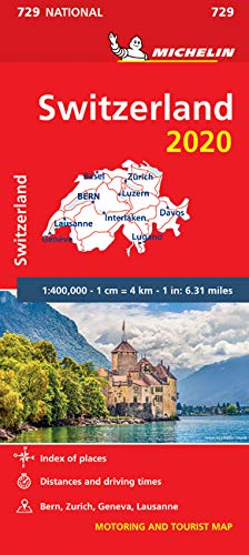 מפת שווייץ 729 2020 מישלן