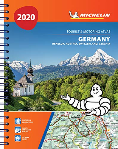 גרמניה אוסטריה שווייץ 1462 אטלס ספירלי 2020 A4