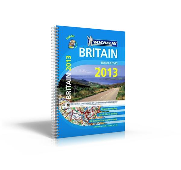 מפת בריטניה 2115 אטלס 2013 מולטיפלקס A4 מישלן (ישן)