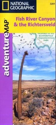 מפה NG קניון פיש ריבר וה-Richtersveld, דרום אפריקה, נמיביה