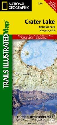 מפה NG פארק לאומי אגם קרייטר