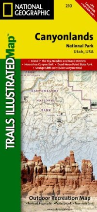 מפה NG קניונלנדס נשיונל פארק