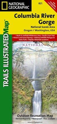 מפה NG קולומביה ריבר ג'ורג, קניון ודרך נוף לאומית