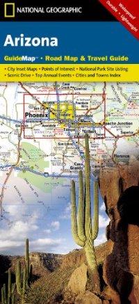 מפת אריזונה נשיונל ג'יאוגרפיק